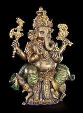 Gottheit Ganesha Herr der Hindernisse Figur Plastik bronziert