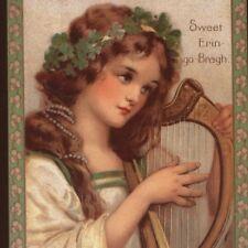 Frances Brundage.Reproduction Postcard Of Scarce St. Patrick'S Day Irish Beauty