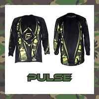 PULSE MOTOCROSS MX ENDURO BMX MOUNTAIN BIKE JERSEY - URBAN CAMO GREEN & BLACK