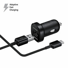 Fast Charger Black Car Charger For Samsung Galaxy Note 8 S8 S8 PLUS USB Cable