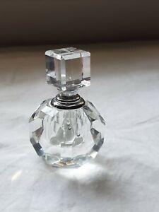 Oleg Cassini Signed Fine Crystal Perfume Bottle 122460 Venezia Casa Cassini Used