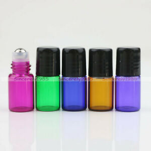1ml 2ml 3ml Empty Glass Roll on Bottles Essential Oil Metal/Glass Roller Ball