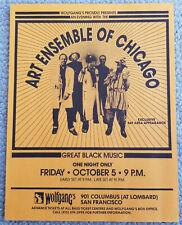 1984.ART ENSEMBLE OF CHICAGO Wolfgangs S.F. Handbill NM condition ORIGINAL