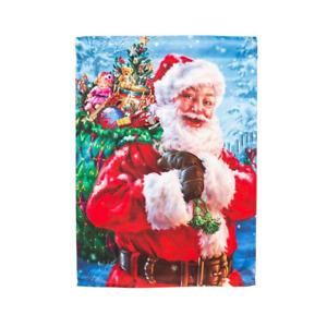 "Santa with Toy Bag 12.5""x 18""  Christmas Garden Flag"