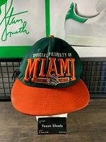 New Era NCAA Miami Hurricanes College Green Canes Snapback Hat