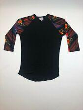 LuLaRoe Randy Black Floral Pattern Tee SUPER SOFT 3XL