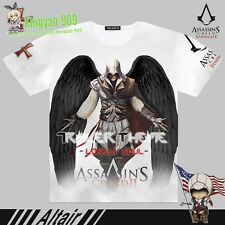 ssassin's Creed Ⅱ altair Anime White Short sleeve T-Shirt Full color TeeTop #53