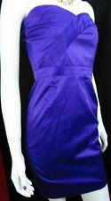 JANE NORMAN purple strapless bandeau sheath evening / party dress NWT  UK 10
