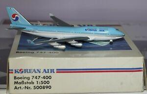 Herpa 500890 Boeing 747-4B5 Korean Air in 1:500 Scale