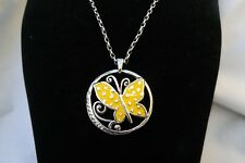 NWT Authentic Brighton Sunny Wings Silver Crystal Enamel Butterfly Necklace $50