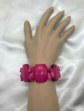 "Handcrafted Tagua Nut - ""PITAHAYA""  Bracelet jewelry - from Ecuador."
