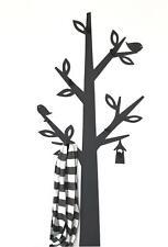 Vestiaire mural métal noir ARBRE 130cm 10-1500 PANNEAU Garderobe de couloir