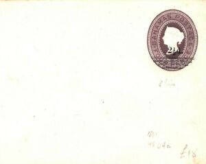 BAHAMAS QV Unused Postal Stationery Envelope 2½d Overprint HG84a {samwells}PB65