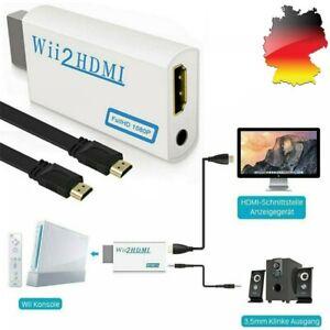 Wii zu HDMI Wii2 HDMI Full HD 1080P HDTV Konverter Adapter mit Kabel DHL