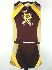 3 Pc Vintage Junior All American Sports Cheerleader Outfit Costume USC colors 14