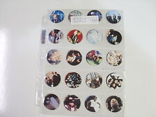 POGS ARTISTOOS ARTISTS BEATLES,ETC.  FROM EAR&EYE COMPLETE SET OF ALL 40 AWESOME