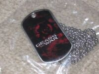 Gears of War 3 promo-exclusive Crimson Omen DOG TAG, 1 2 judgement 4 dogtag NEW
