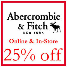 === INSTANT DELIVERY=== **25% OFF*** ABERCROMBIE Promo Code Discount Code