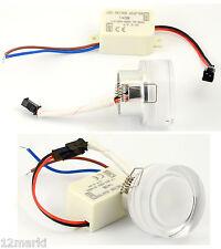 3 X SPOT ampoule ENCASTRABLE ROND  PLEXIGLASS à LED 230V 3500°K blanc chaud ★