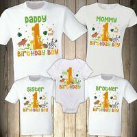 Jungle Animals Lion Family Shirt Birthday Safari celebration Matching Custom