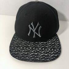 New York Yankees 47 Brand Black & White Baseball Cap Hat OS Snap Back Closure