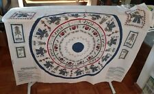 """Let it Snow Peace Creek Collection Christmas Tree Skirt Fabric Panel 32"""" Snowman"""