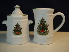 PFALTZGRAFF HERITAGE CHRISTMAS SUGAR AND CREAMER
