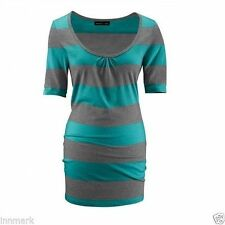 Women's Striped Crew Neck Tops & Shirts ,Multipack