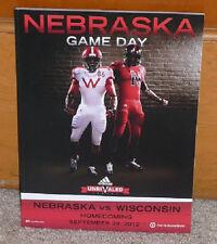 2012 Nebraska vs. Wisconsin Badgers Football Program 9-29-2012