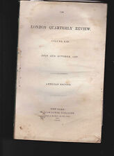 London Quarterly Review July & Oct 1837 PICKWICK PAPERS REVIEW Charles Dickens