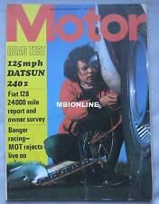 Motor magazine 11/12/1971 featuring Datsun 240Z road test, Land speed cars, Fiat