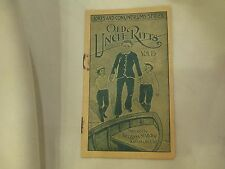 "Antique Faultless Starch Booklet  ""Old Uncle Ritts"", vol 15, 16 pages"