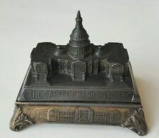 CAPITOL WASHINGTON DC Antique Vintage Souvenir Jennings Brothers Jewelry Box