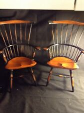 Primitive Style Windsor Spindle Back Doll/Bear Chairs 2/set