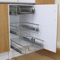 3 x Schrankkorb Körbe Schrankauszug Korbauszug Küchenkorb Küche Aufbewahrung