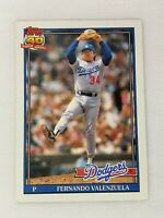 Fernando Valenzuela Los Angeles Dodgers 1991 Topps Baseball Card 80