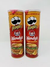 Pringles Wendy's Spicy Chicken Sandwich Limited Edition 2 Cans FREE SHIPPING