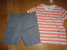 Nwt baby Gap Carter's boys outfit size 3 years stripe top and 3T gray shorts