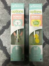 2 New Easter Dr. Brown's Options Bottle Vent 8oz Prevent Pacifier Brush Colic
