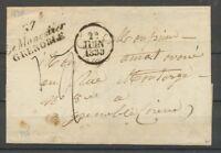 1830 Lettre Cursive 37 Le Monestier/Grenoble PD ISERE(37) Indice 17 X2236