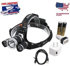 Headlamp 15000LM XM-L 3x CREE LED BORUiT Headlight 18650 Battery Head Light Lamp