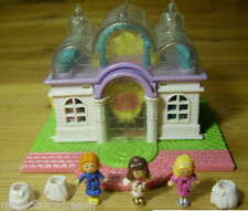 Polly Pocket Mini ♥ Light-up Braut Bridal Salon ♥ + 3 Pollys u. 3 Röcke ♥ 1994 ♥