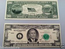 2001 DOLLARS George W. Bush FAKE DOLLAR BILLS Lot of 20-