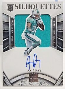 Jay Ajayi 2015 Panini Crown Royale Silhouettes Jersey RC Auto #d 100/299 DOLPHIN