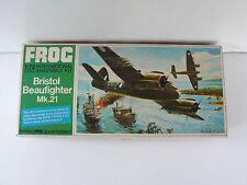 FROG  VINTAGE 60/70  BRISTOL BEAUFIGHTER  Mk.21  I/72è BON ÉTAT KIT GREEN SÉRIE
