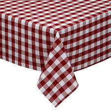 Lovely Wine U0026 White Cotton Rich Checkered Kitchen Tablecloth: Gingham/Plaid Design