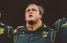 SOUTH AFRICA RUGBY: COENIE OOSTHUIZEN SIGNED 6x4 ACTION PHOTO+COA *SPRINGBOKS*