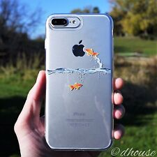 MADE IN JAPAN Soft Clear TPU Case Goldfish design for iPhone 7 Plus