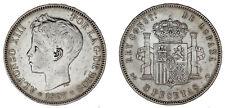 5 Silver Pesetas/Silver Duro. Madrid Alfonso XIII 1897. VF