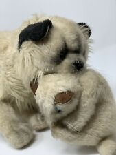 "Wallace Berrie Avanti Jockline Plush 19"" Mother Himalayan Cat w/ Kitten Vtg 1983"